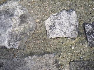 imestone in old concrete