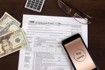 Mobile income tax filing