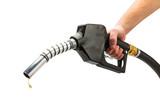 zapfpistole mit benzin tropfen