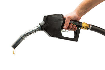 pump nozzle with petrol drop