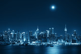 Fototapety Moon Rise Manhattan