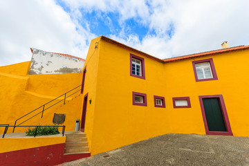 Typical Portuguese houses in Funchal town, Madeira island
