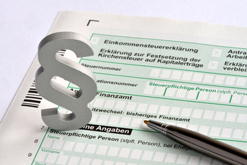 Steuerrecht, Selbstanzeige, Steuererklärung, Finanzamt