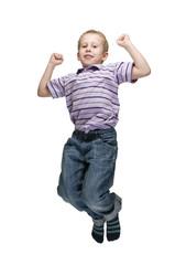 Joy jump of boy