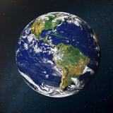 Paneta Tierra sobre el espacio
