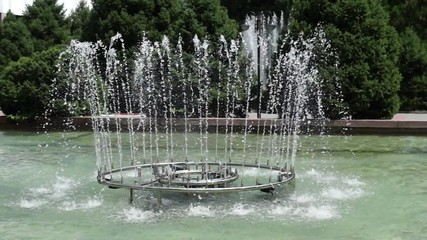 Fountains in the city, Almaty, Kazakhstan.