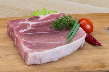 Raw pork meat