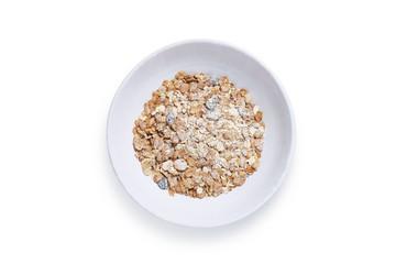 Muesli in bowl