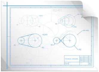 Technical Construction Sheet - Illustration