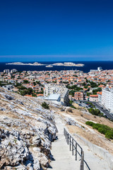 View of Marseille, southern France.