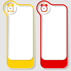 colored abstract frames for your text and alarm clock