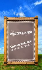 Strassenschild 34 - Sommerreifen