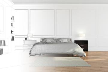 Raumplanung im Schlafzimmer