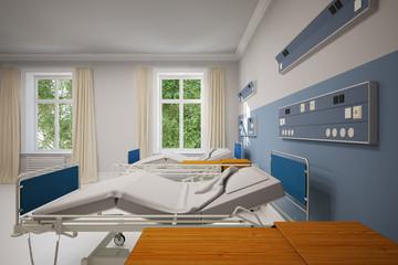 Zweibettzimmer im Krankenhaus