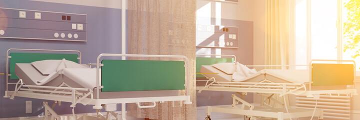 Helles Krankenzimmer in Klinik