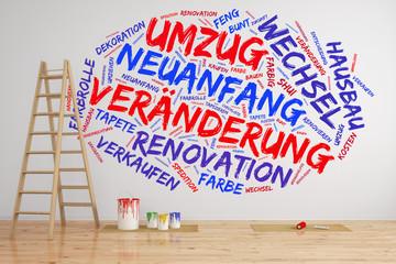 Umzug und Veränderung bei Hausbau