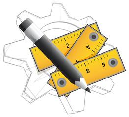 Technical Planning Icon - Illustration