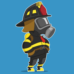firefighter stands