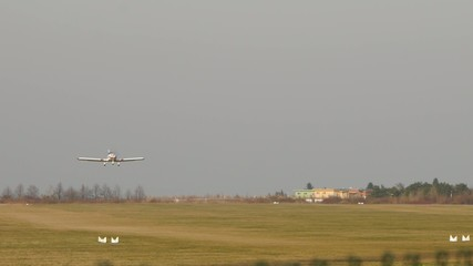 private plane - small passenger airport