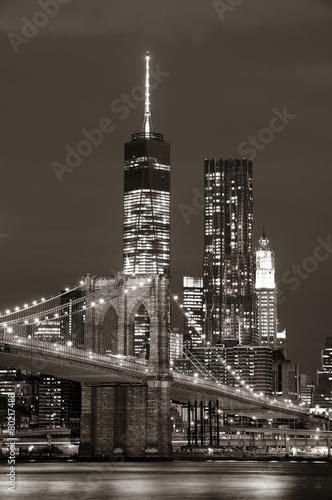 Foto op Aluminium New York Manhattan at night