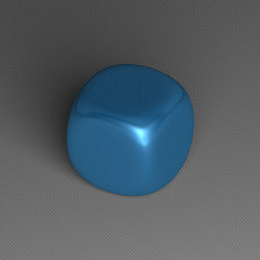 Blue rounded cube