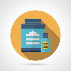 Flat color vector icon for sport supplements