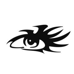 Illustration tattoo of human eye