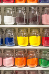 Jars of Colored Sand
