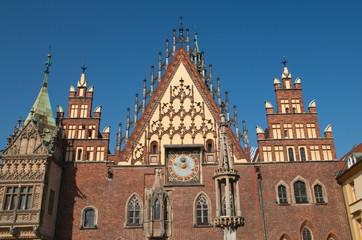 Wrocławski Ratusz detale architektoniczne