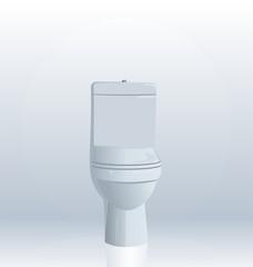 Realistic illustration of toilet bowl