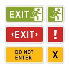 Informative vector signs.