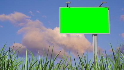 3d billboard animation, green screen alpha