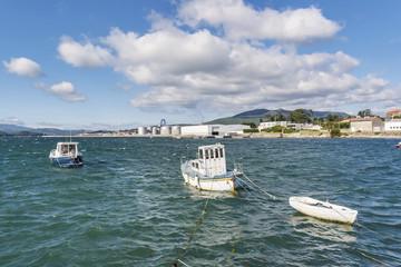 Boats moored in Vilaxoan