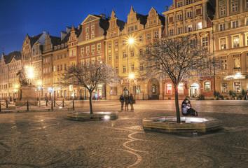 Wrocław stare miasto w nocy