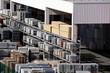 Leinwanddruck Bild - Freifläche eines Baustoffhandels