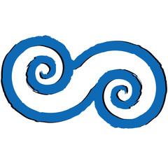 doppia spirale greca