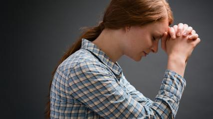 Believer Praying - Side View
