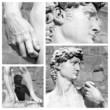 Leinwanddruck Bild - masterpiece of fine art -  David by Michelangelo puzzle