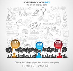 Teamwork Brainstorming communication concept art