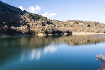 Plastiras lake in central Greece