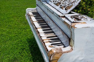 old piano in the garden