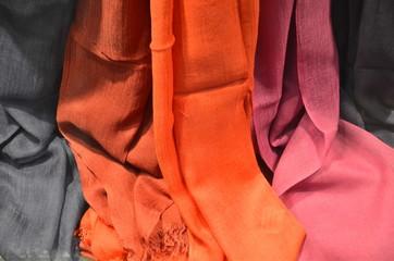 Bunte Textilien