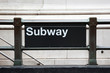 Subway entrance in manhattan - New York - USA - 80227073