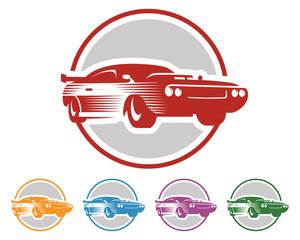 Car Logo - Muscle Car - Car Vector - Classic Car - circle