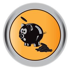 button, piggy bank, coins, icon, vector, illustration