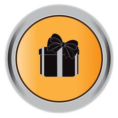 gift,button, box, sign, icon, present, vector, illustration