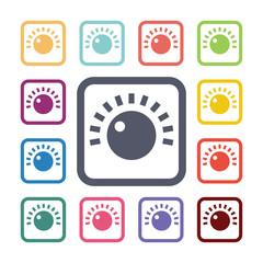 sound control flat icons set