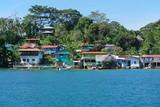 Fototapety Coastal Caribbean village on an island of Panama