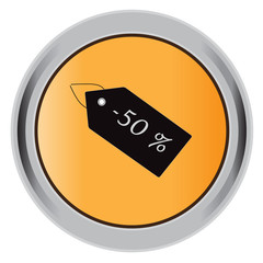 button,  discount badge, flat, icon, vector, illustration
