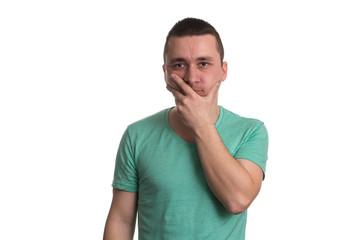Man Thinking Isolated On White Background